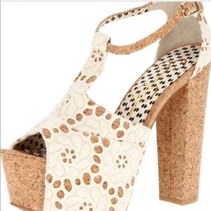 58ec954cf8c Jessica Simpson Shoes - Jessica Simpson Dany4 Cream Chunky Cork Heels